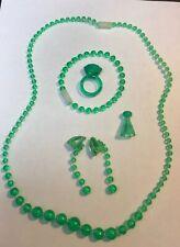 Pretty Pretty Princess 1999 Green Set Of Jewelry Pawn Ting Necklace Bracelet Ear