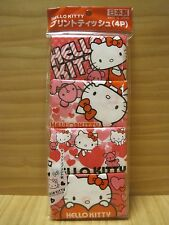 Hello Kitty Facial Pocket Tissue, 4 packs, 40 sheets, For Sale in Japan Only