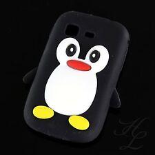 Samsung Galaxy Pocket S5300 Soft Silikon Case Schutz Hülle Etui Pinguin Schwarz