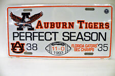 2007 Auburn Tigers National Champions  - New Car TAG NOS  In Original plastic