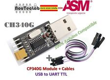 USB to TTL Converter UART module CH340G CH340 3.3V 5V Switch + Cable