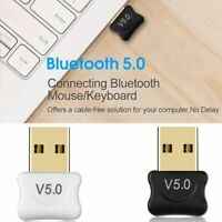 USB Bluetooth Dongle 5.0 Wireless Adapter Transmitter Receiver For Laptop PC New