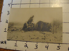 Vintage Original Postcard:WWI REAL PHOTO-- 21 cm MORSER GUN