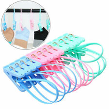 Sturdy Laundry Hanging Rope Pins Clothes Drying Clothesline Windproof Clip Hooks