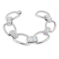 Damen-Armband mit Kristallen von Swarovski® Silber Breit NOBEL SCHMUCK