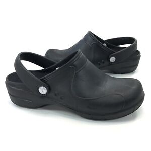 Sanita Stride Mule Lightweight Rubber Clog Black Size 41 EU / Women's Size 10 US