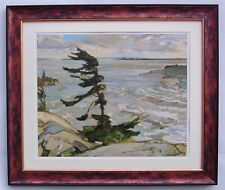 """Group of Seven, F. H. Varley """"Stormy Weather"""" in Mottled Cherry Frame"""