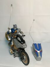 Vintage Mighty Morphin Power Rangers RC Motorcycle 2002 Bandai 49 Mhz WORKS!