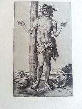 Durer woodcut 2.75x4.5 1499 plate signed B 20 Christ before the cross