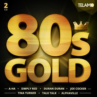 80'S GOLD (TINA TURNER, ROXETTE, JOE COCKER, A-HA, DURAN DURAN, ...)  2 CD NEW