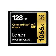 Lexar UDMA 7 VPG65 128GB 1066X 160MB/s Compact Flash CF Memory Card