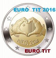 2 €   MALTE  COMMEMO  RARE  300 000 ex    L'AMOUR  ! NOUVEAU 2016   disponible