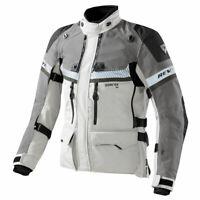 Rev'it Dominator Gore-Tex Motorcycle Jacket Light Grey Green | Rev'it! Revit