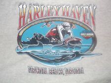 True Vintage HARLEY DAVIDSON Harley Haven Virginia Beach Motorcycle T Shirt 2XL