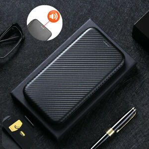 for Samsung Galaxy S21 ULTRA Flip Carbon Fiber Stand Leather Wallet Case Cover