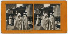 Photo stéréo Exposition Universelle 1900 Paris Félix Potin / un concert arabe