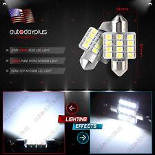 2x White 31MM 3528 12SMD Festoon Dome Map Interior LED Lights DE3175 3022 3021