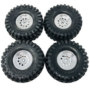 Traxxas TRX-4 Bronco Wheels and Tyres Assembled1.9 Chrome, Canyon Trail x 4 8177