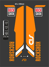 "ROCK SHOX SID  FORK DECAL SET ORANGE/WHITE VERSION 29"""
