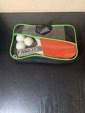 New 2 Blazing Athletics Table Tennis Rackets 12 Ping Pong Balls Carrying Bag