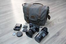 Canon EOS M10 Mirrorless Digital Camera w/ 15-45 + 55-200 + 2 Batt + 32SD + Bag