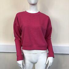New Look Ladies Pink Crew Neck Long Sleeve Cropped Sweatshirt Jumper UK Size 10