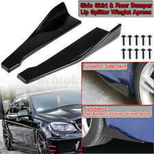 2x Universal Car Rear Bumper Lip Wrap Angle Splitter Winglet Side Skirt Diffuser