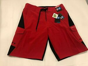 NWT $79.99 Pelagic Mens FX-90 Tactical Boatshort Fishing Shorts Red Size 40