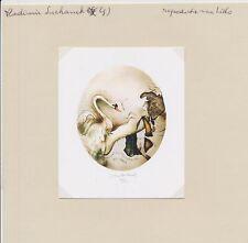 EX21036 EX Libris VLADIMIR SUCHANEK swan & nude woman signed l
