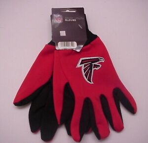 Atlanta Falcons Logo Sport Utility Gloves 2 Tone Dot Palms NFL Licensed Tags!