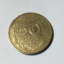 50 centimes LAGRIFFOUL 1963 col 3 plis Num2