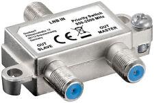 Vorrang-Schalter verteilt / schaltet 1 LNB auf 2 SAT-Receiver