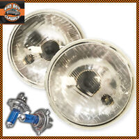 "Pair 5 3/4"" Halogen Headlights Headlamps Sealed Beam Conversion Classic Car"