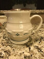 Longaberger Woven Traditions Pottery Classic Green 1 Quart Pitcher New