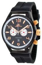 Adee Kaye AK7232-MIPRG Men's Silicone Strap Black Dial Chronograph Watch