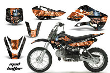 Decal Graphic Kit Wrap + # Plates For Kawasaki KLX 110 02-09 KX 65 02-18 MAD O K
