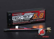 Nano-tech 5800mah 2S 30-60C - 7.4v -Hardcase RC Car Lipo Battery (ROAR APPROVED)