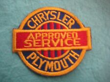 "Vintage Gold Red Chrysler Plymouth Approved Service  Patch Sew On 3 1/8""X2 7/8"""