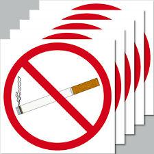 5 Sticker 10cm Square Sticker Smoking Non-Smoking Smoking Verboten