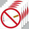 5 Aufkleber 10cm quadratisch Sticker Rauchverbot Nichtraucher Rauchen Verboten