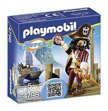 4798 Pirata barba tiburón playmobil,sharkbeard pirate, Super 4