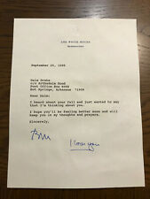 Bill Clinton 1995 Typed Letter Signed as President To Cousin in Hope -Postscript