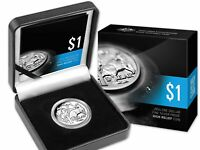 2014 $1 AUD Proof Mob of Roos 30th Anniversary High Relief 1 oz .999 Silver Coin