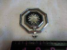 Pontiac Sun Hood Ornament Emblem octagon- bottom loop is broken