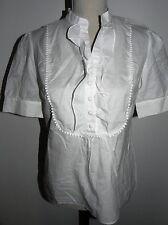 Belle chemise manches courtes CAROLL Blanche état Neuf 38