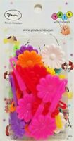 Yours Barrettes Hair MULTI COLOR Big Flowers Girls Toddler Snap Pin Clips 20 Pcs