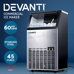 Devanti Commercial Ice Maker Machine Portable Ice Cube Tray Stainless Steel