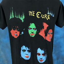vintage 80s THE CURE IN BETWEEN DAYS CONCERT T-Shirt MEDIUM rock tour thin