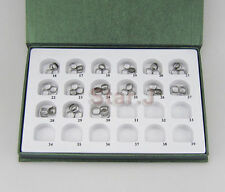 60pcs 1set Dental Orthodontic Plain Smooth Bands for second molar- 15 sizes