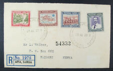 Western Samoa Registered FDC 29 Aug 1939; Mombasa cancellation; Nairobi address